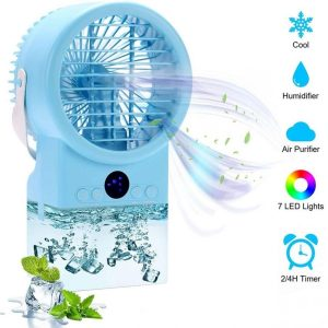Ventilador humidificador con luces LED